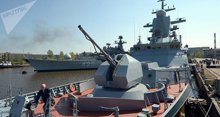 A corveta Boiky da Frota do Mar Báltico