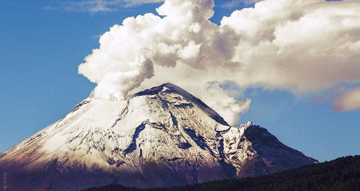 Vulcão El Popo no México