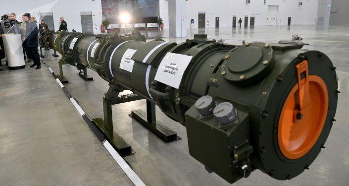 Míssil modernizado 9М729 apresentado pelo Ministério da Defesa russo no pavilhão de exibição Patriot, nos arredores de Moscou (foto de arquivo)