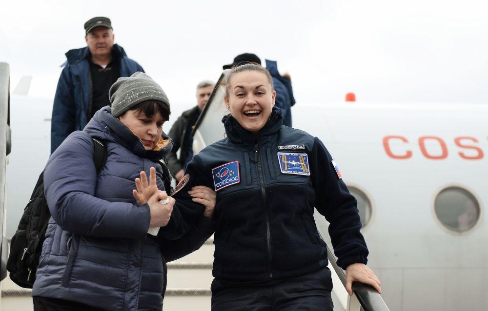 Membro da tripulação da Estação Espacial Internacional e cosmonauta da Roscosmos Elena Serova
