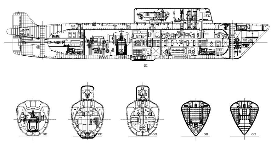 Projeto de submarino quebra-gelo nuclear russo