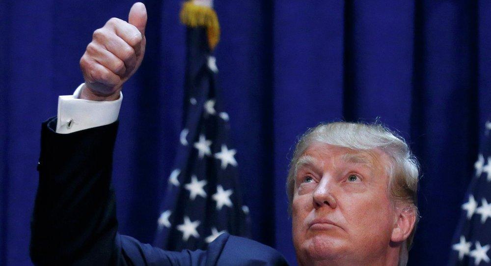 Bilionário Donald Trump – candidato às eleições presidenciais dos EUA pelo Partido Republicano