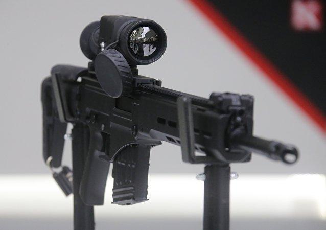 Metralhadora leve Kalashnikov RPG-16 apresentada no decorrer da exposição EXÉRCITO 2017