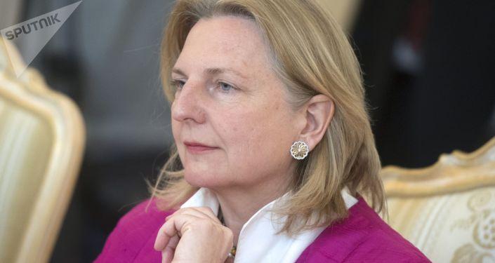 Ministra de Relações Exteriores da Áustria, Karin Kneissl
