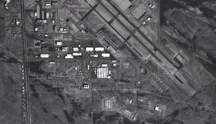 Foto de satélite da fábrica nos EUA da corporação industrial Raytheon na cidade de Tuzon, divulgada pelo Ministério da Defesa russo