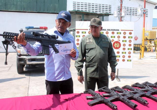 Armamento dos EUA apreendido na Venezuela