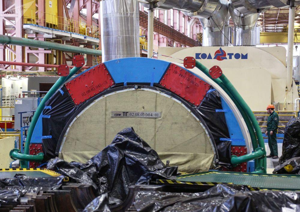Trabalhos de reparação das unidades nucleares da usina de Kola, na Rússia, subsidiada pela empresa Rosenergoatom