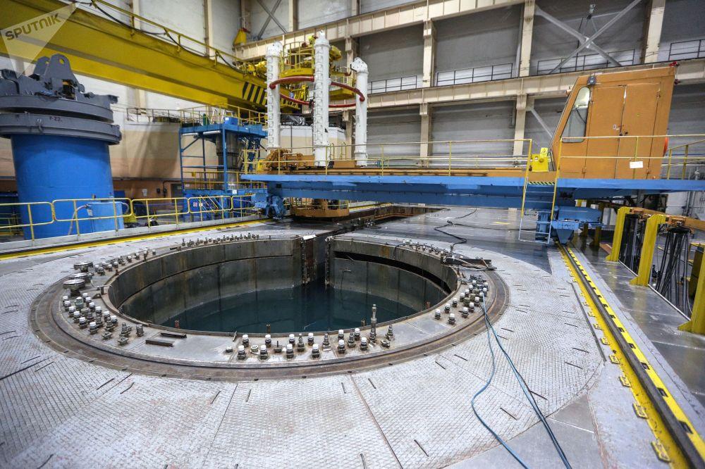 Área central da usina nuclear de Kola, construída na região de Murmansk, localizada no Extremo Norte da Rússia