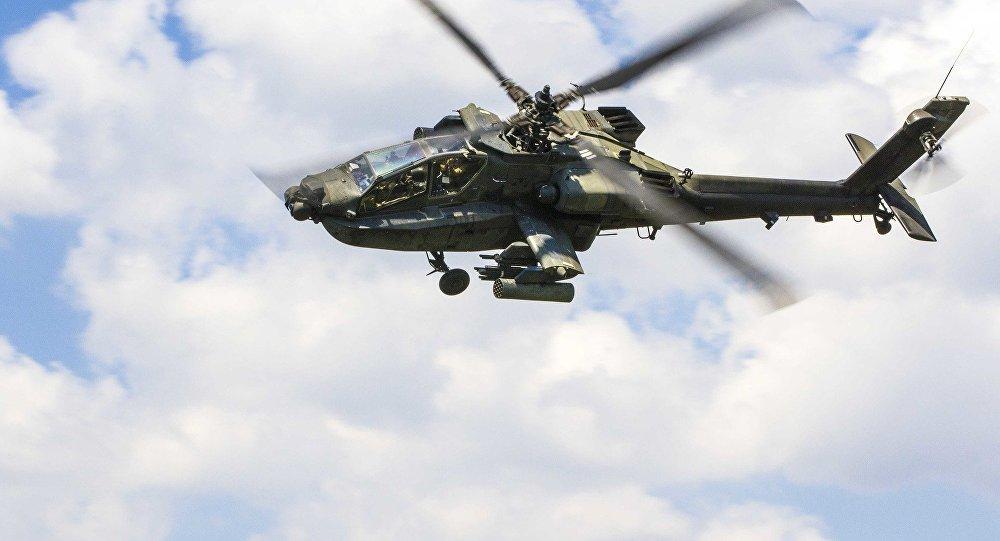 Helicóptero AH-64 Apache (foto de arquivo)