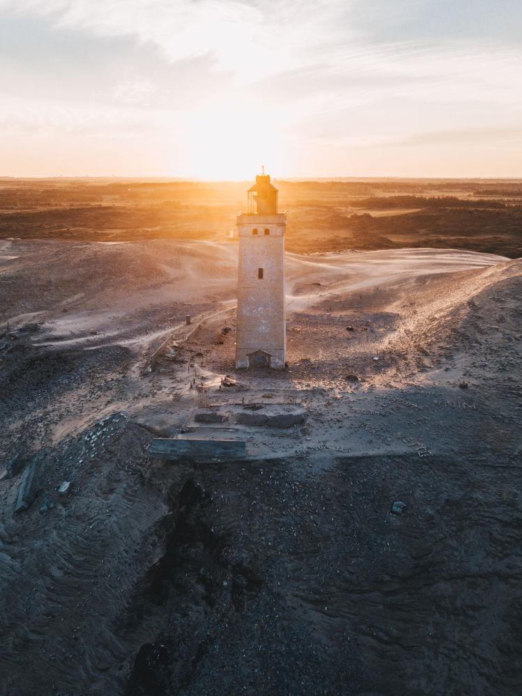 Farol abandonado na Dinamarca