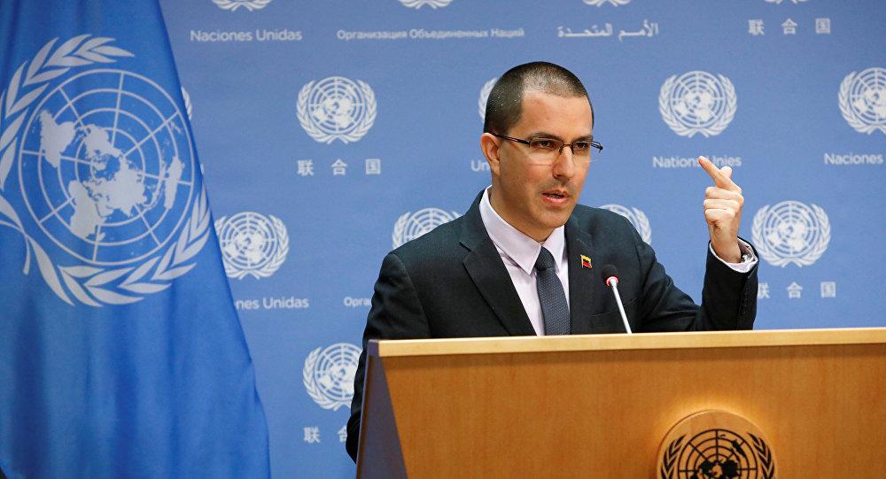 Jorge Arreaza, ministro das Relações Exteriores da Venezuela