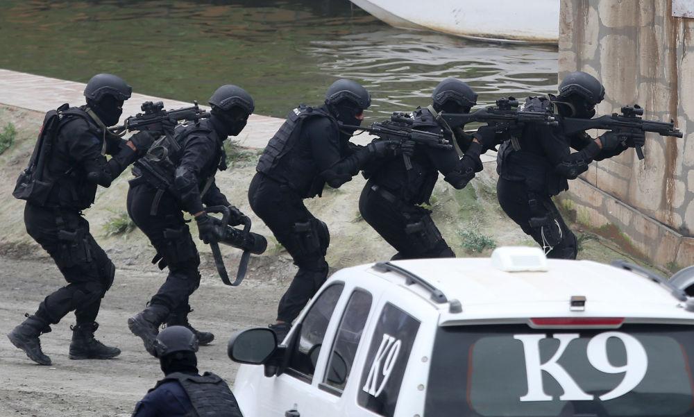 Militares do Exército dos EAU realizam manobras militares
