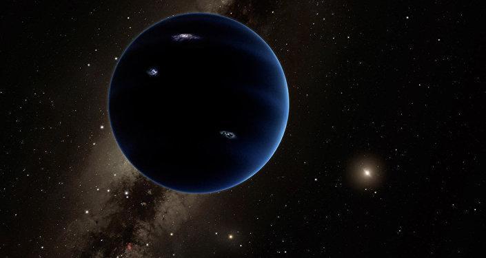 Vista distante do Planeta Nove (imagem referencial)
