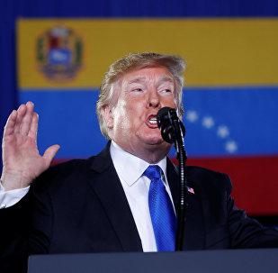 Donald Trump, presidente dos EUA faz discurso sobre a crise na Venezuela em Miami, 18 de fevereiro de 2019