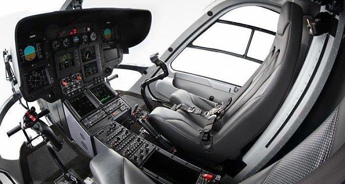 Parte interna do H135.