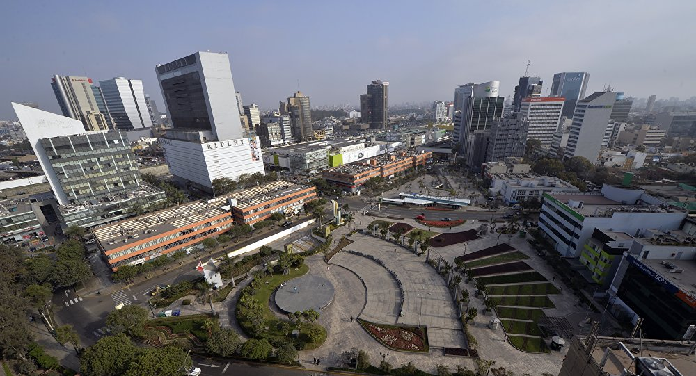 View of the commercial district of San Isidro, in Lima