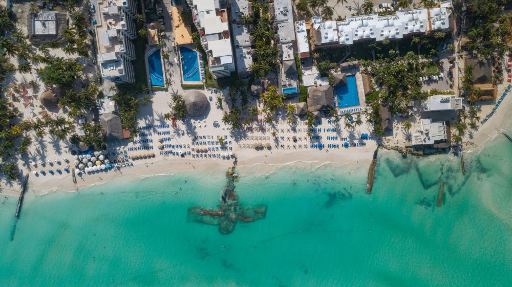 Playa Norte, uma das praias mais bonitas da Isla Mujeres, no México