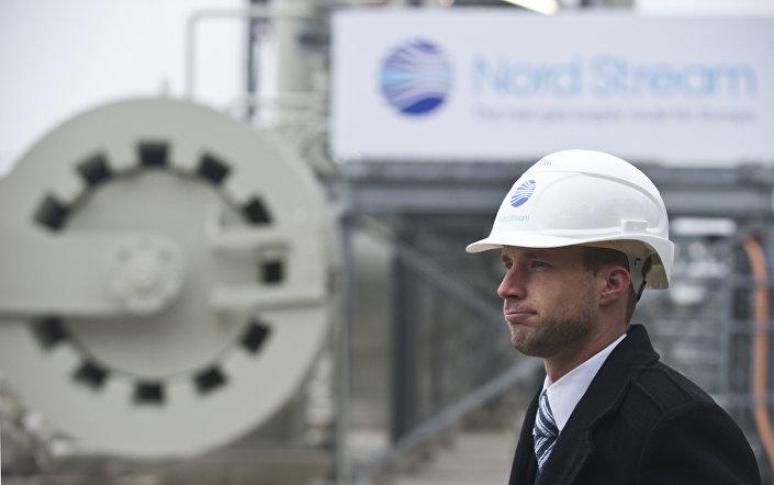Membro da equipe construtora do projeto Nord Stream em 2011