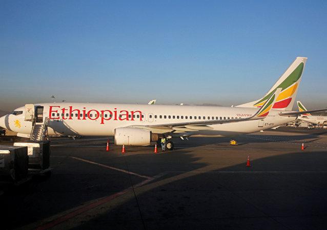 Um avião Boeing 737 da Ethiopian Airlines