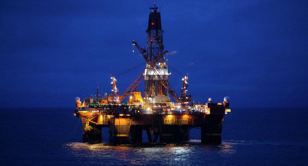 Plataforma de produção de petróleo da empresa russa Rosneft