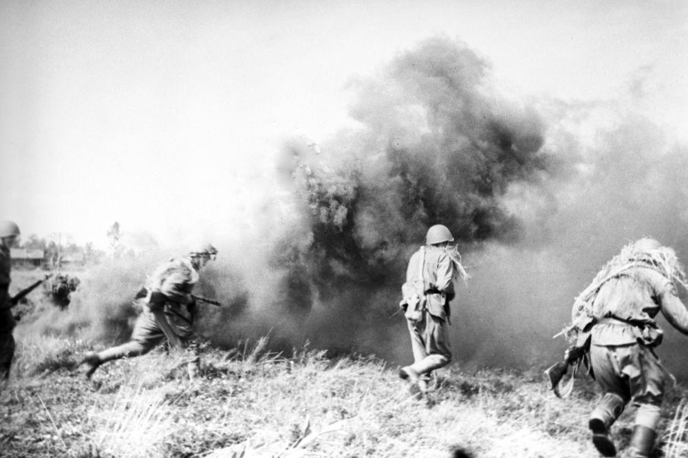 Grande Guerra Patriótica, batalha na Bielorrússia.