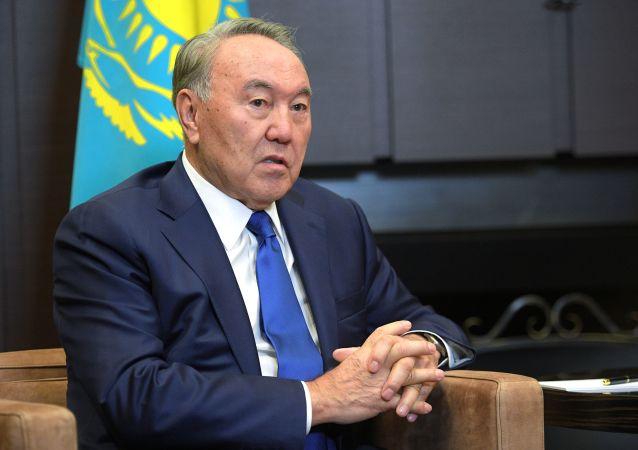 Ex-presidente do Cazaquistão Nursultan Nazarbaev, foto de arquivo