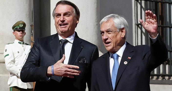 Jair Bolsonaro e Sebastián Piñera