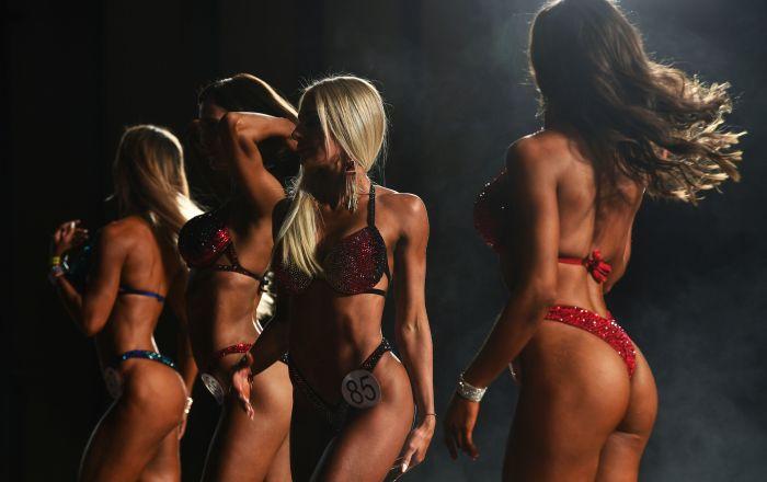 Siberianas com corpos perfeitos participam do campeonato de fisiculturismo na região russa de Transbaikal
