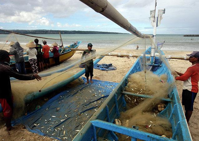 Pescadores indonésios (foto de arquivo)
