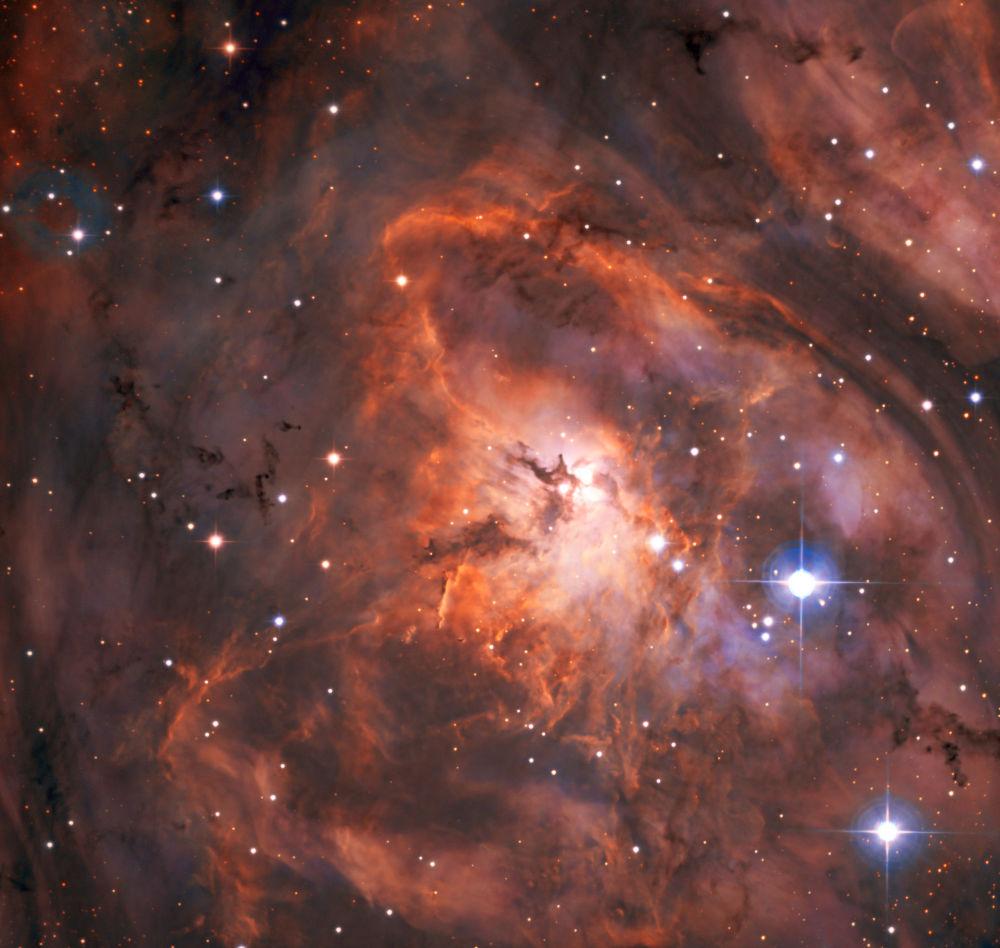 Nebulosa Laguna na constelação de Sagitário