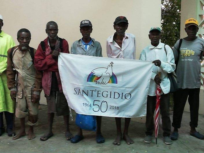 Voluntários da comunidade de Santo Egídio em Moçambique