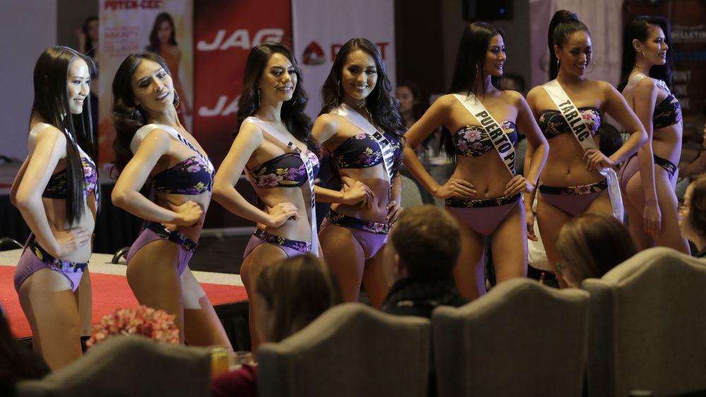 Candidatas posam de biquíni em um dos eventos mais esperados das Filipinas