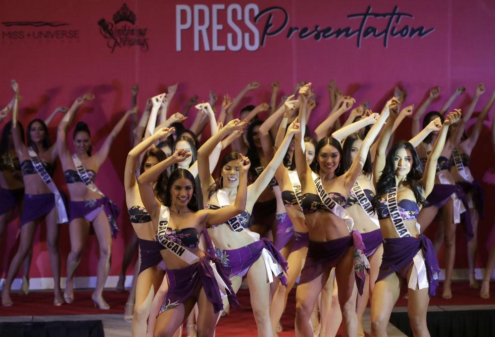 Apresentação das candidatas do concurso Miss Filipinas