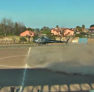 Helicóptero invade campo de futebol para sequestrar o jogador italiano Ignazio Barbagallo, na Sicília