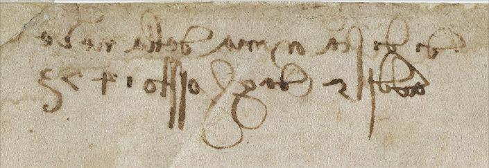 Escrita do artista Renascentista, Leonardo Da Vinci, durante análise em Florença