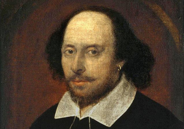 Retrato do poeta e dramaturgo inglês William Shakespeare