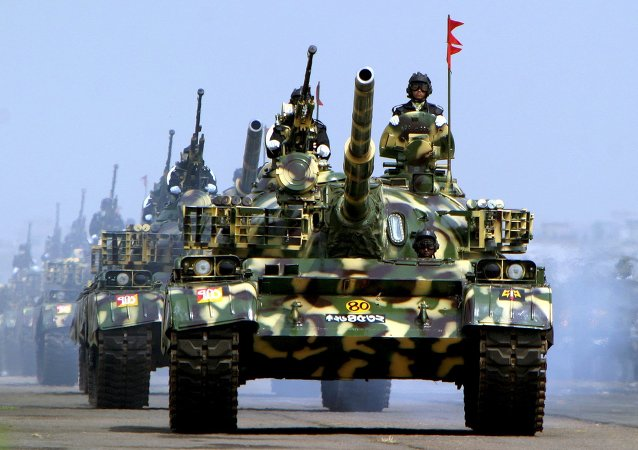 Tanques chineses T-62