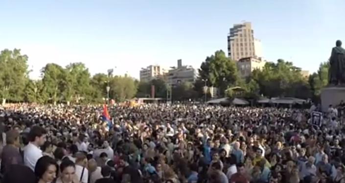 Manifestação em Yerevan
