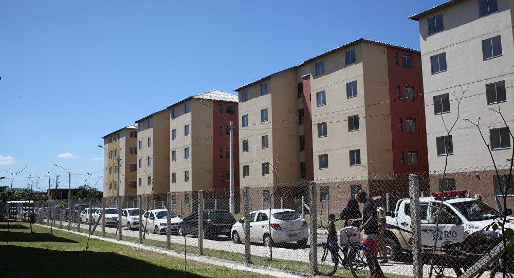 Unidades habitacionais do programa Minha Casa, Minha Vida no bairro de Santa Cruz, na zona oeste do Rio (Beth Santos/Secretaria Geral).