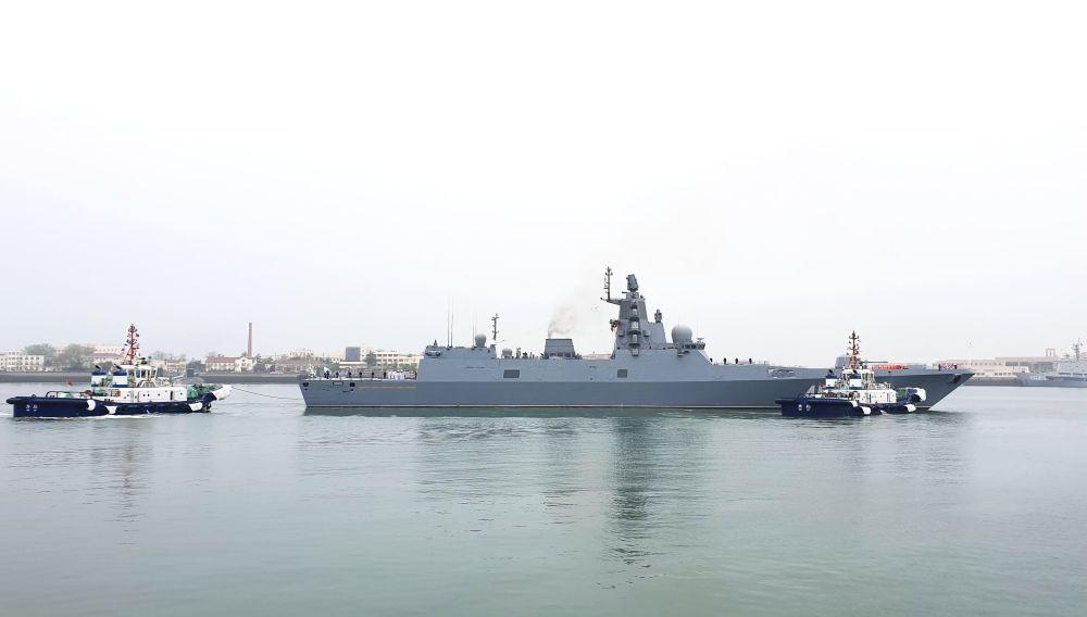 A celebração é dedicada ao 70º aniversário de criação da Marinha do Exército de Libertação do Povo Chinês