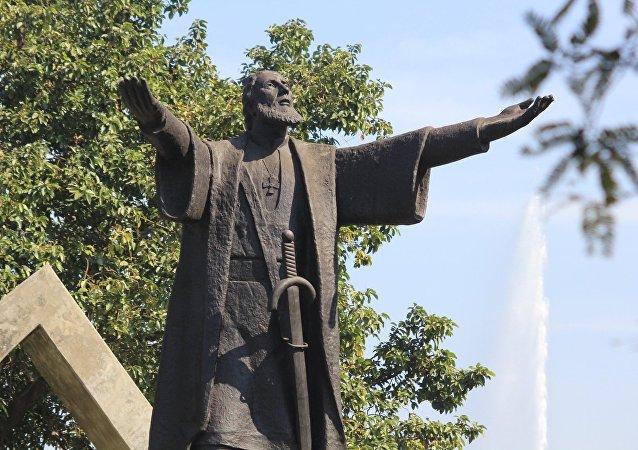 Estátua em homenagem a Pedro Álvares Cabral, próximo ao Parque Ibirapuera, São Paulo