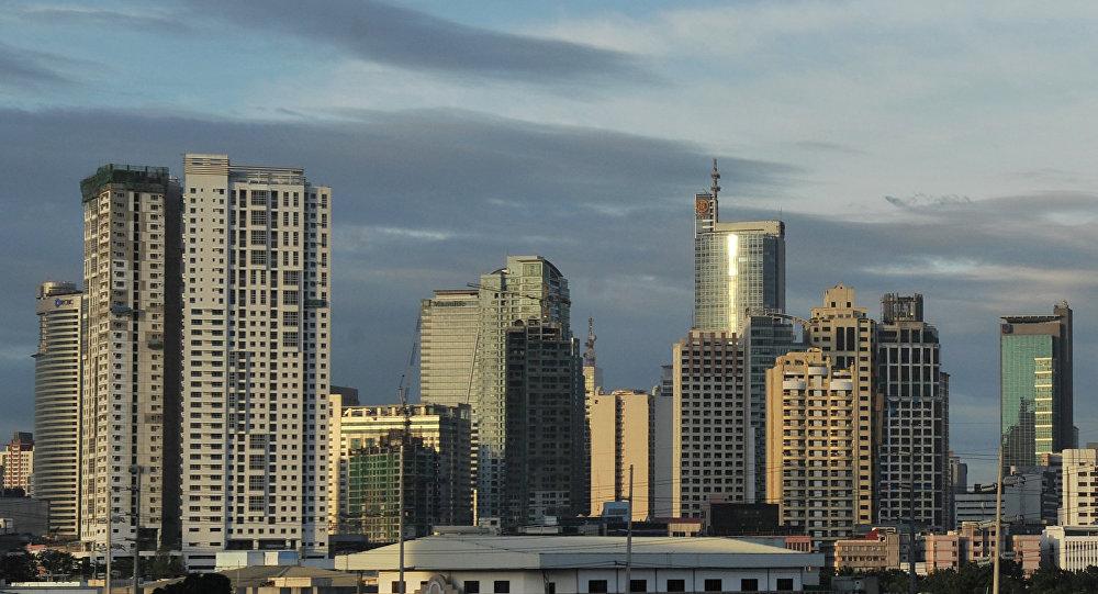 Vista geral de Manila, Filipinas