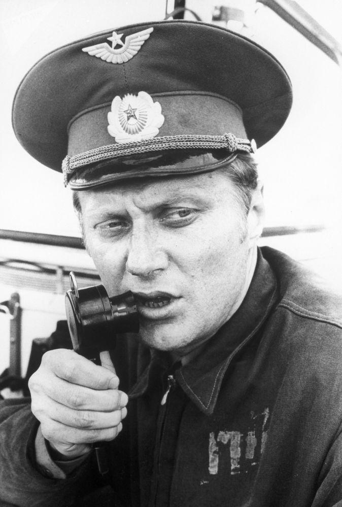 Chefe de voo, major A. Babich, após acidente na usina nuclear de Chernobyl, na cidade ucraniana de Pripyat