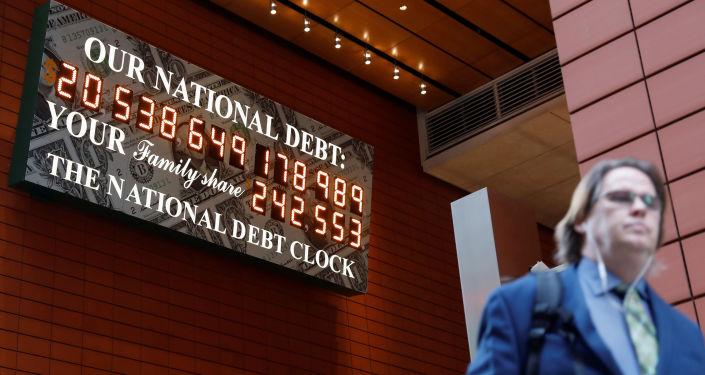 Relógio da Dívida Nacional em Manhattan, na cidade de Nova York, EUA, 30 de novembro de 2017