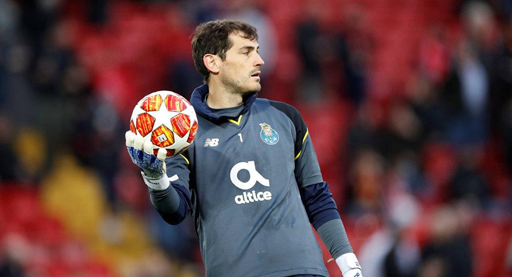 Atleta espanhol Iker Casillas, goleiro do FC Porto, de Portugal (arquivo)