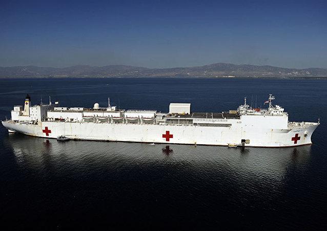 Navio hospitalar americano USNS Comfort (imagem de arquivo)