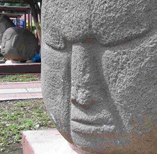 Esculturas de pedra da Guatemala