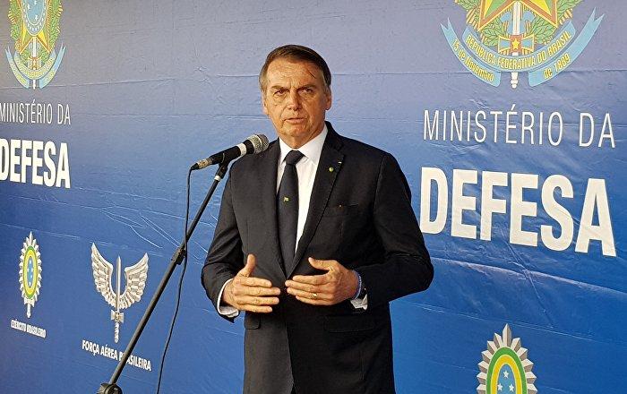 Presidente Jair Bolsonaro participou de uma cerimônia em homenagem aos ex-combatentes brasileiros que lutaram na Segunda Guerra Mundial