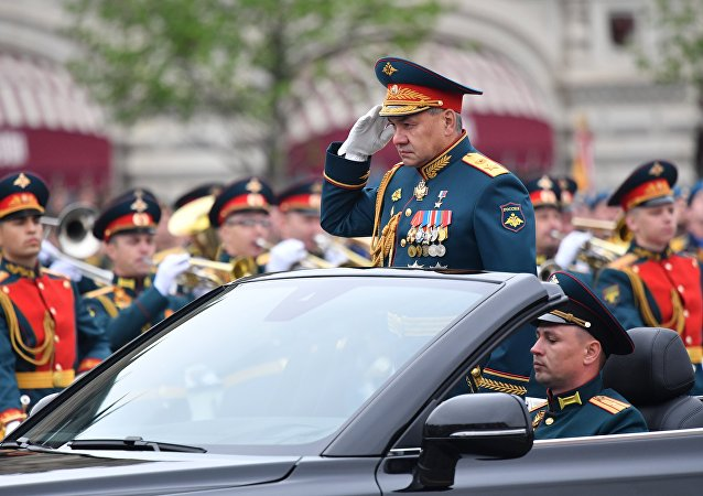 Ministro da Defesa, Sergei Shoigu, na Parada da Vitória, 9 de maio de 2019
