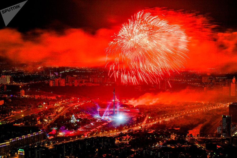 Show de fogos de artifício em Moscou dedicado às celebrações do 74º aniversário da Vitória
